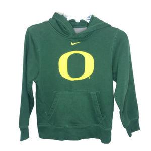 Nike Boy's Green & Yellow Oregon Hoodie - M